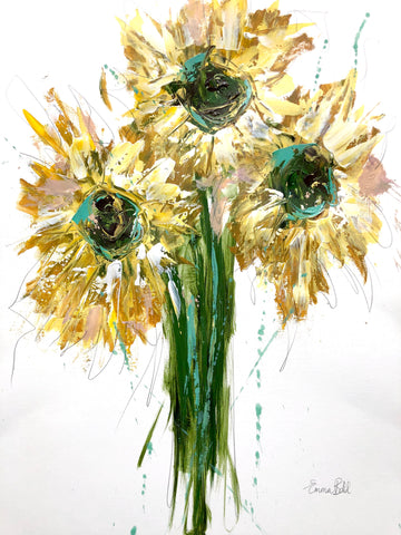 Sunflower Bunch painting Emma Bell - Christenberry Collection