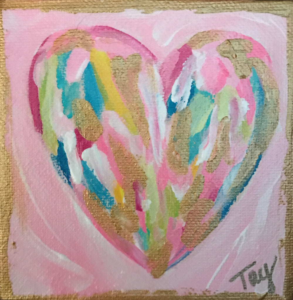 Hearts of Gold 12 painting Tay Morgan - Christenberry Collection