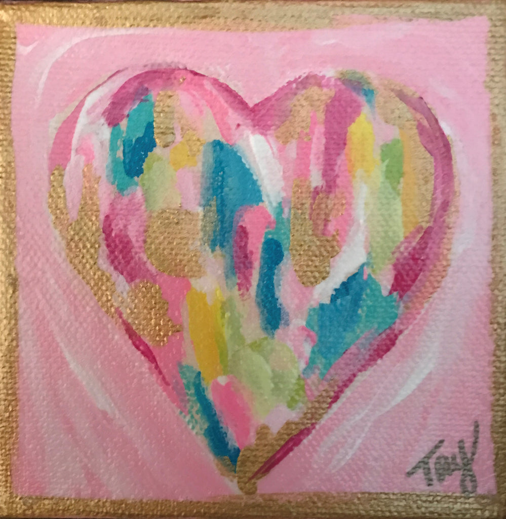 Hearts of Gold 13 painting Tay Morgan - Christenberry Collection