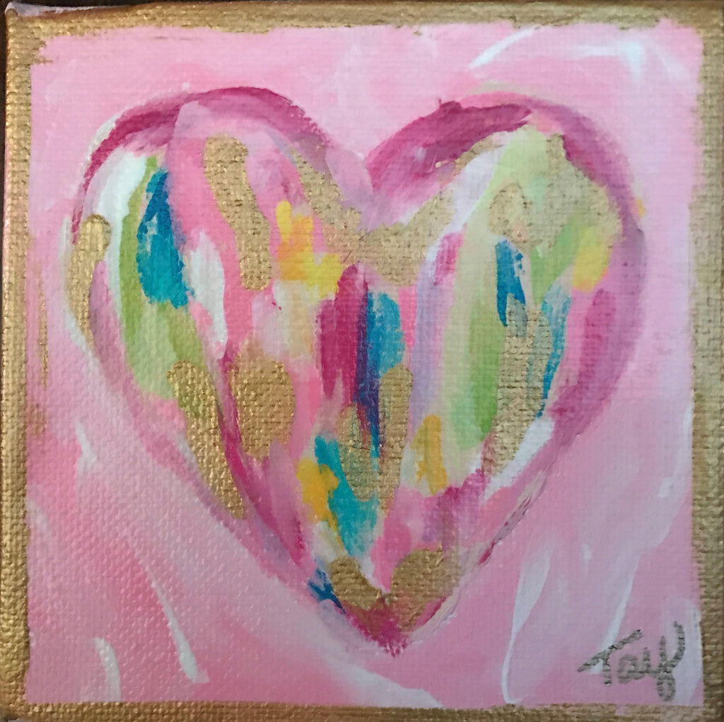 Hearts of Gold 15 painting Tay Morgan - Christenberry Collection