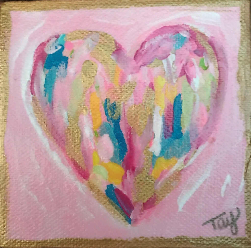 Hearts of Gold 16 painting Tay Morgan - Christenberry Collection