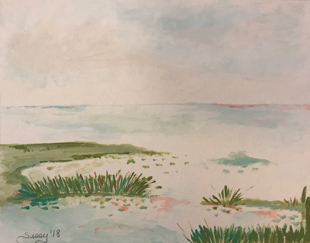 Little Marsh painting Jane Marie Edwards - Christenberry Collection