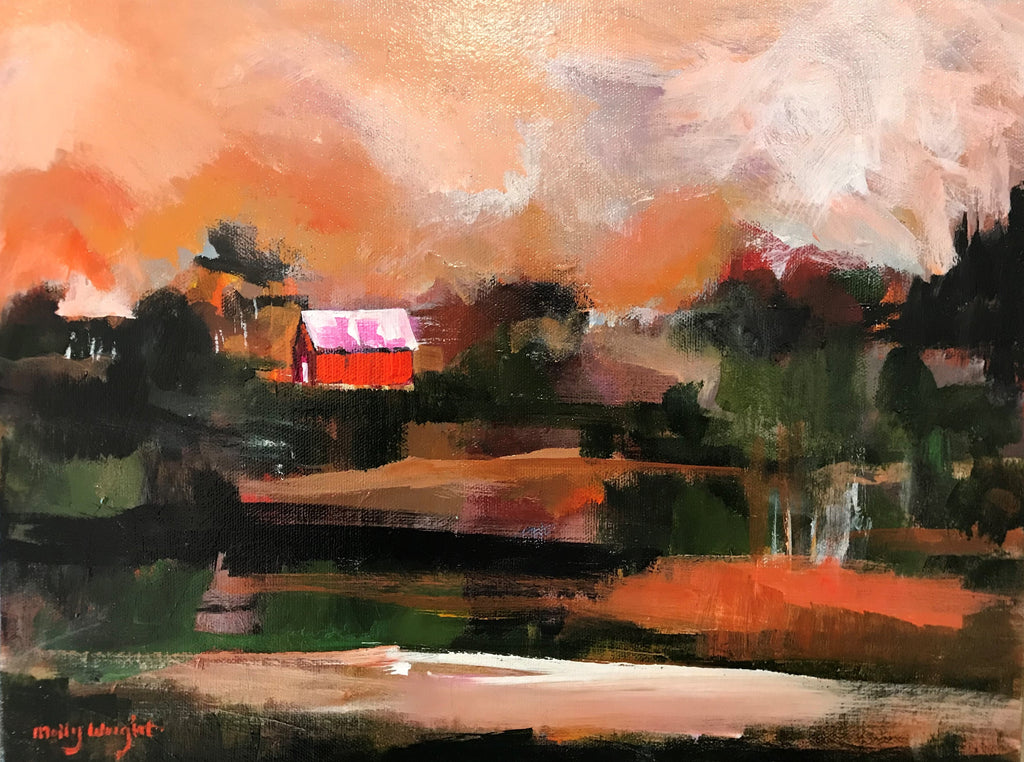 Down by the Pond painting Molly Wright - Christenberry Collection