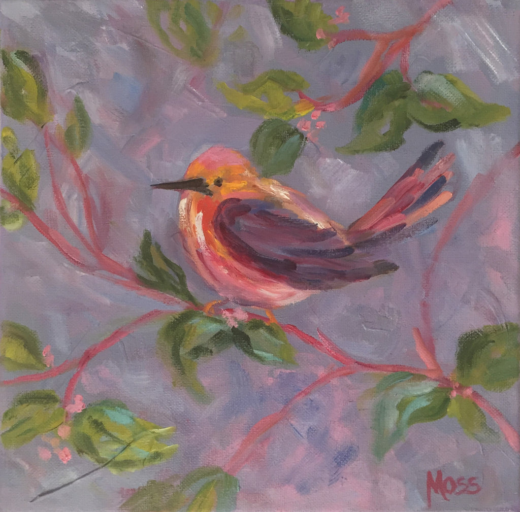 Bird painting Jenny Moss - Christenberry Collection