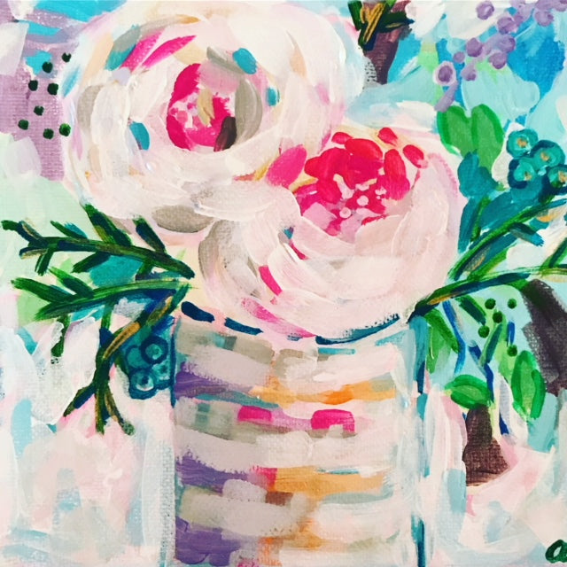 Pretty Peonies painting Ashley Williams - Christenberry Collection