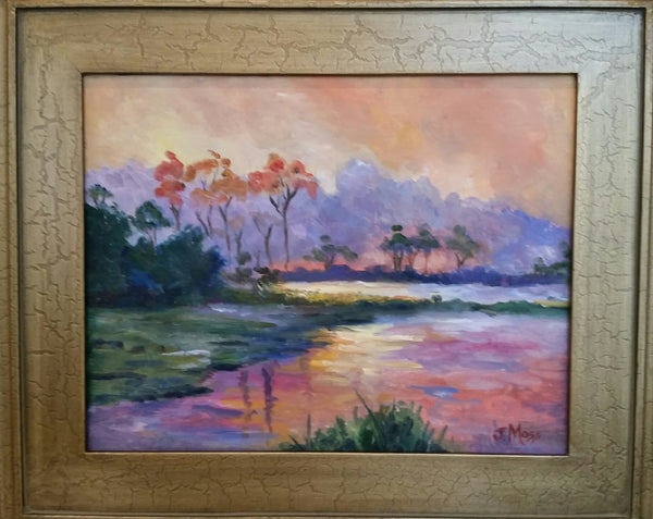 Moody Marsh painting Jenny Moss - Christenberry Collection