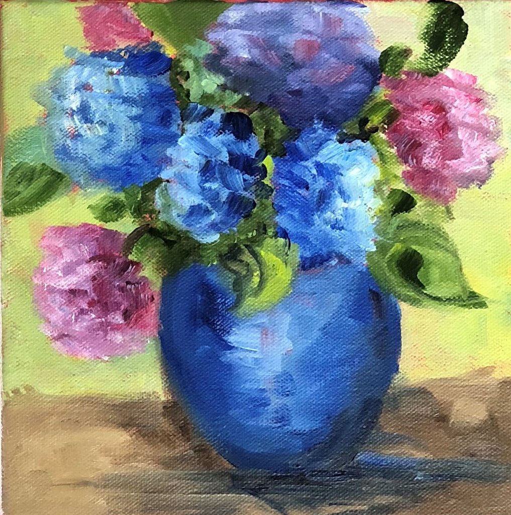 Mini Hydrangeas painting Jenny Moss - Christenberry Collection