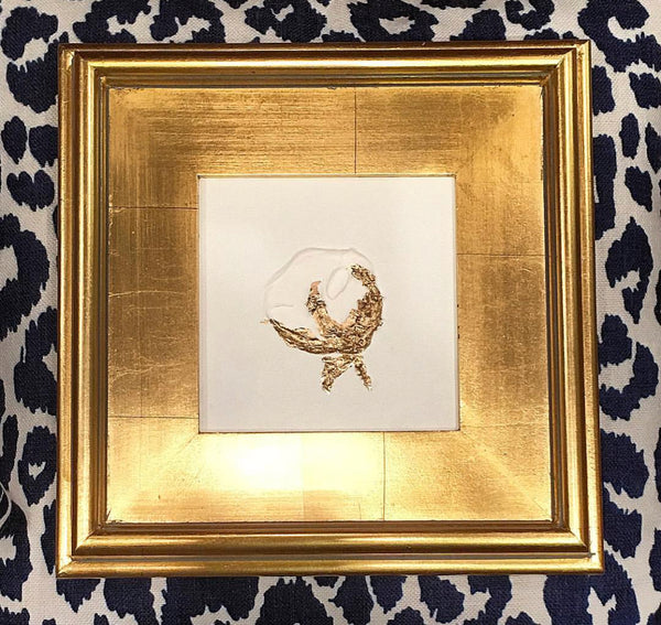 Gold Leaf Cotton painting Mary Kathryn Kendig - Christenberry Collection