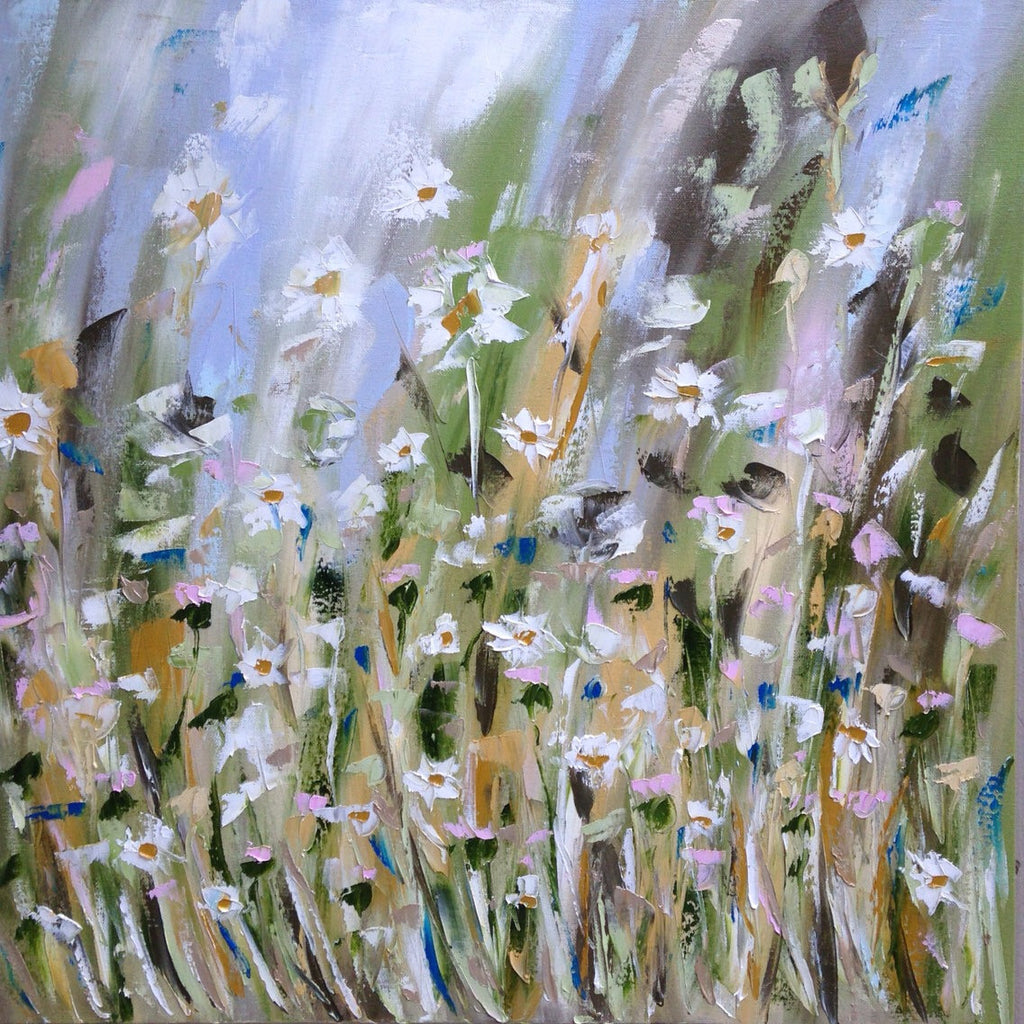 Daisy Field painting Emma Bell - Christenberry Collection