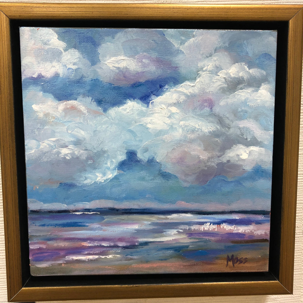 Billowing Clouds painting Jenny Moss - Christenberry Collection