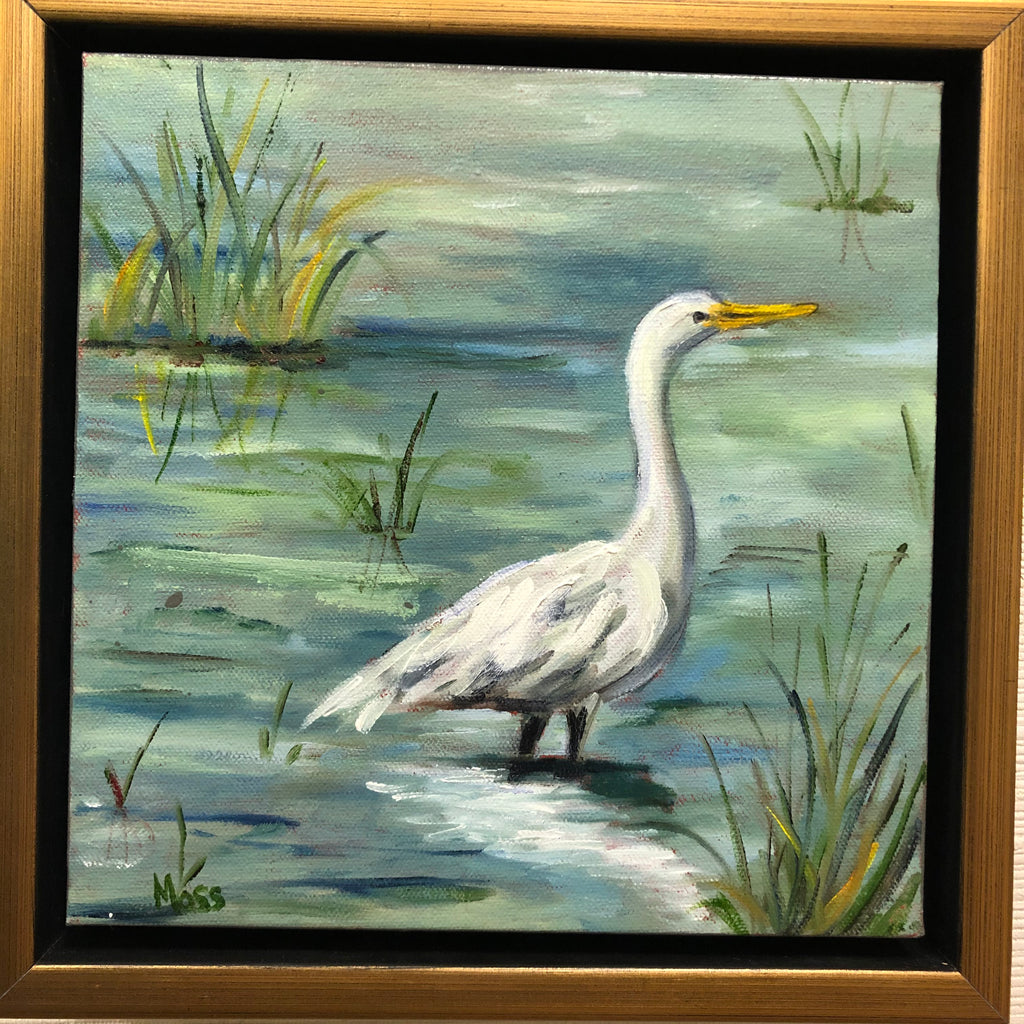 Low Country Bird 2 painting Jenny Moss - Christenberry Collection