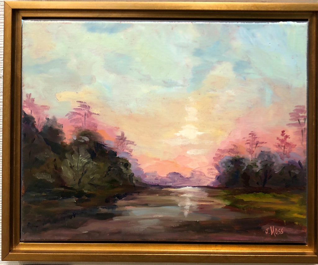 Sunset 1 painting Jenny Moss - Christenberry Collection