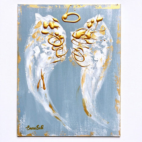 Angel Abstract I painting Emma Bell - Christenberry Collection