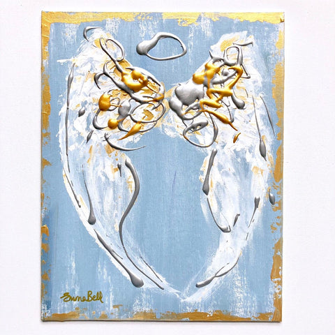Angel Abstract II painting Emma Bell - Christenberry Collection