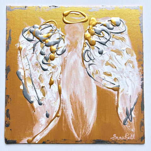 Angel Abstract IX painting Emma Bell - Christenberry Collection