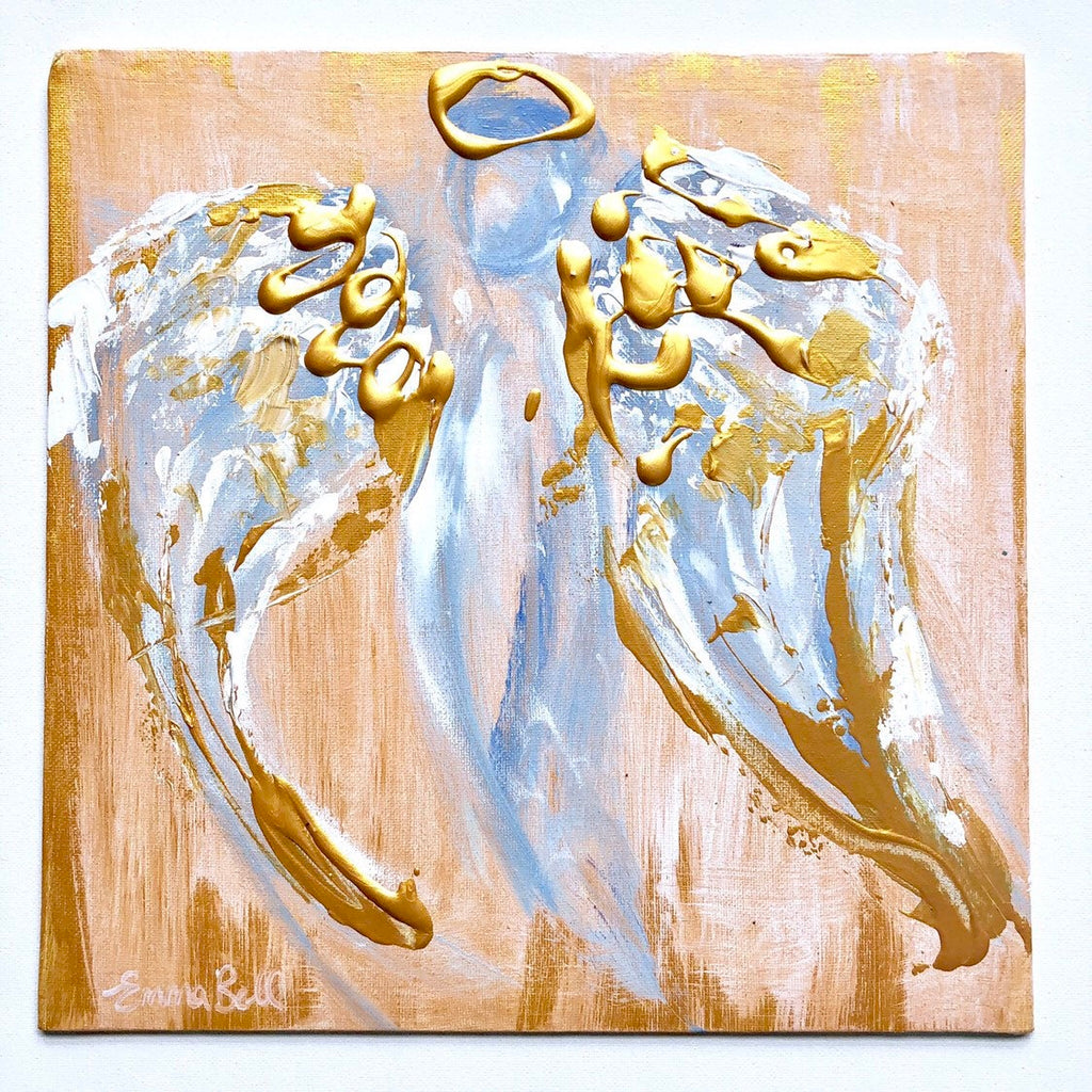 Angel Abstract X painting Emma Bell - Christenberry Collection