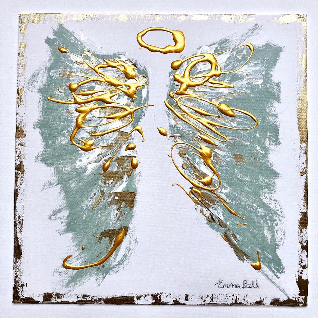 Angel Abstract XII painting Emma Bell - Christenberry Collection