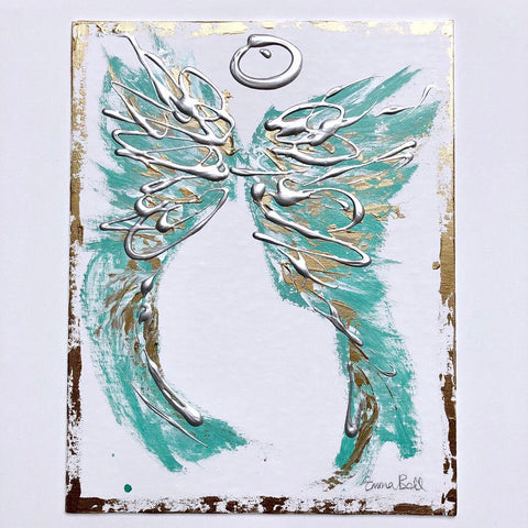 Angel Abstract XIII painting Emma Bell - Christenberry Collection