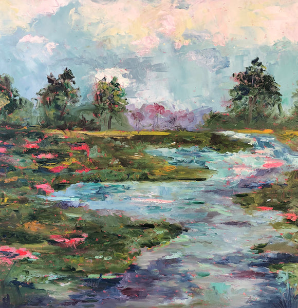Summertime in the South painting Jenny Moss - Christenberry Collection