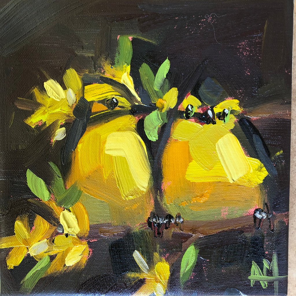 Two Kentucky Warblers painting Angela Moulton - Christenberry Collection