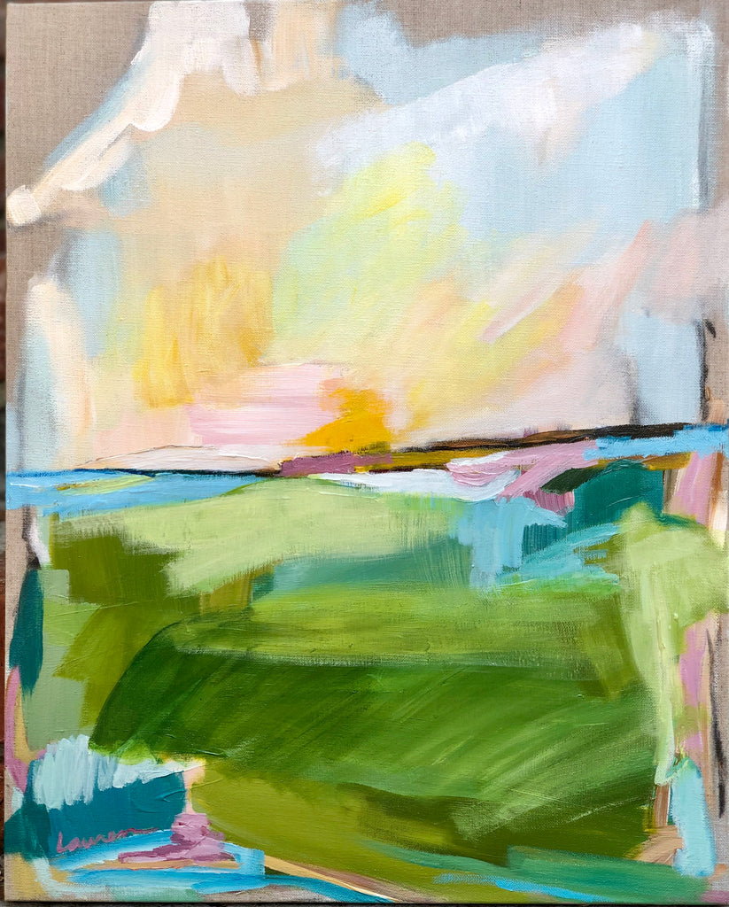 Brighter Days II painting Lauren Roberts - Christenberry Collection