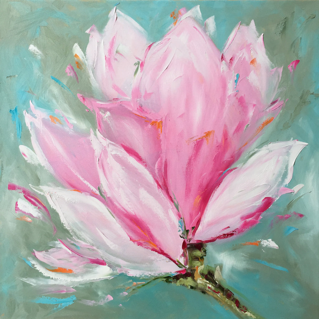 Spring Magnolia painting Emma Bell - Christenberry Collection