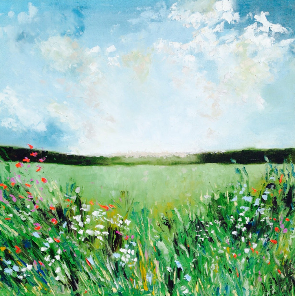 Summer Meadow painting Emma Bell - Christenberry Collection