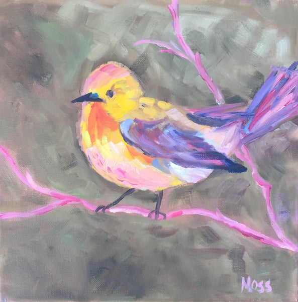 Fall Bird painting Jenny Moss - Christenberry Collection