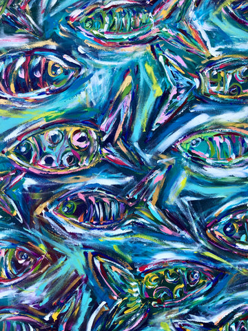 Christenberry Collection | Leah G. Richardson | Original Art | Blue Fish Painting