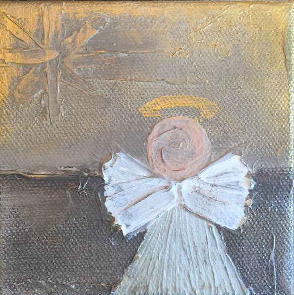 Kathryn Angels painting Lori Mitchell - Christenberry Collection