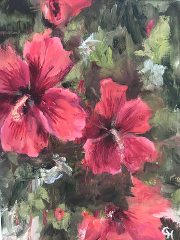Rose of Sharon painting Cynthia Huston - Christenberry Collection