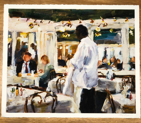 Their Corner, Galatoires painting Amy Dixon - Christenberry Collection