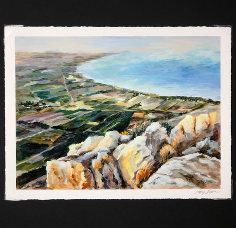 Landscape Print painting Amy Dixon - Christenberry Collection