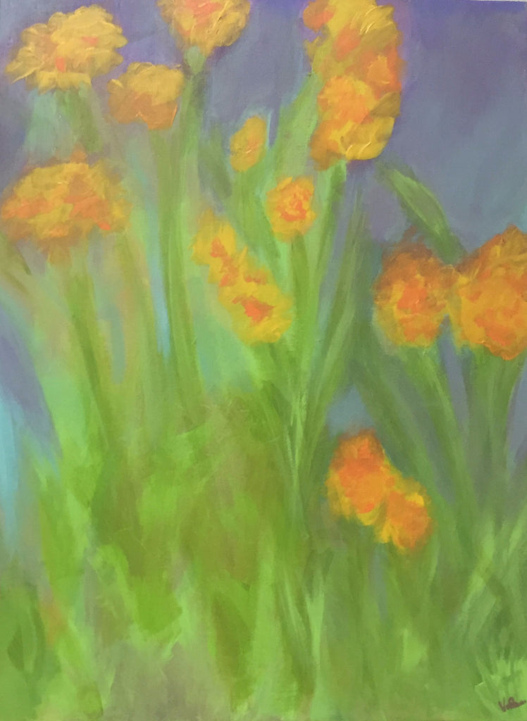Day Lillies painting Vicki Whichard - Christenberry Collection