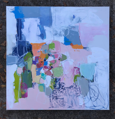 Colorful Composition No. 2 painting Lynnette Driver - Christenberry Collection
