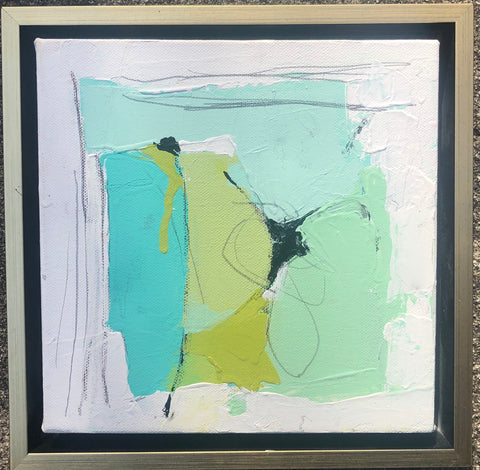 Sea Color Abstract 1 painting Lynnette Driver - Christenberry Collection