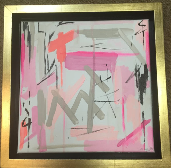 Abstract Shades of Pink painting Jane Marie Edwards - Christenberry Collection