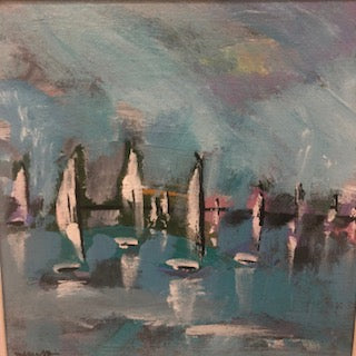 Sail 15 painting Molly Wright - Christenberry Collection