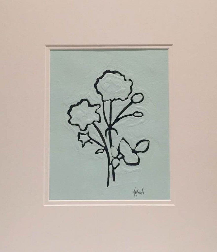 Blue Botanical painting Amanda Petro - Christenberry Collection