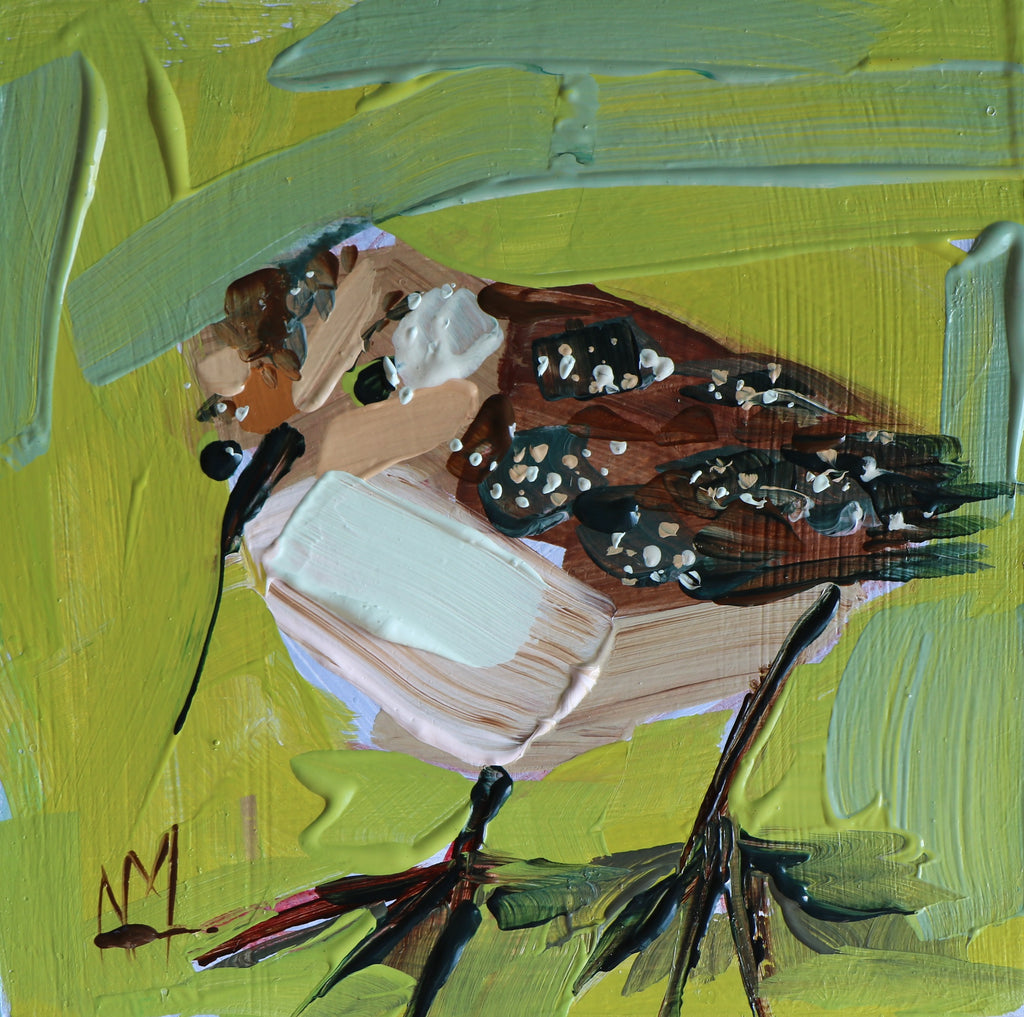 Baby Sandpiper painting Angela Moulton - Christenberry Collection