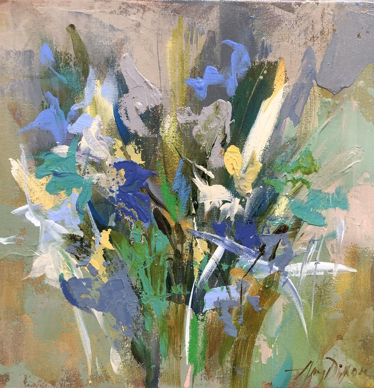 Jardin Bleu No. 1 painting Amy Dixon - Christenberry Collection