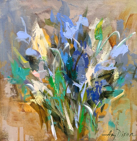 Jardin Bleu No. 2 painting Amy Dixon - Christenberry Collection