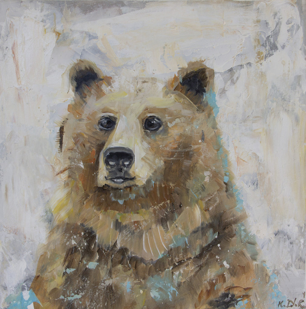 Animal - Papa Bear painting Kym De Los Reyes - Christenberry Collection