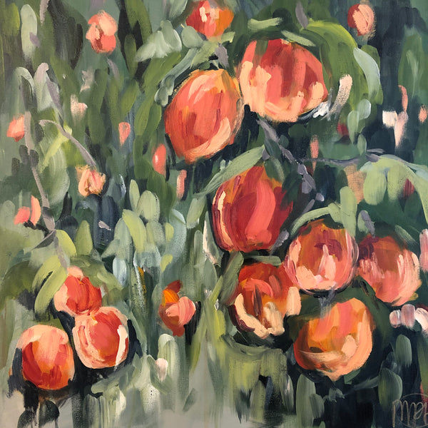 Peaches and Cream painting Powers Tanis - Christenberry Collection