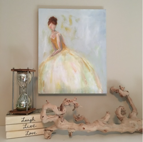 Sitting Pretty painting Kristin Cooney - Christenberry Collection