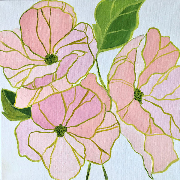 Small Floral I painting Kristin Cooney - Christenberry Collection