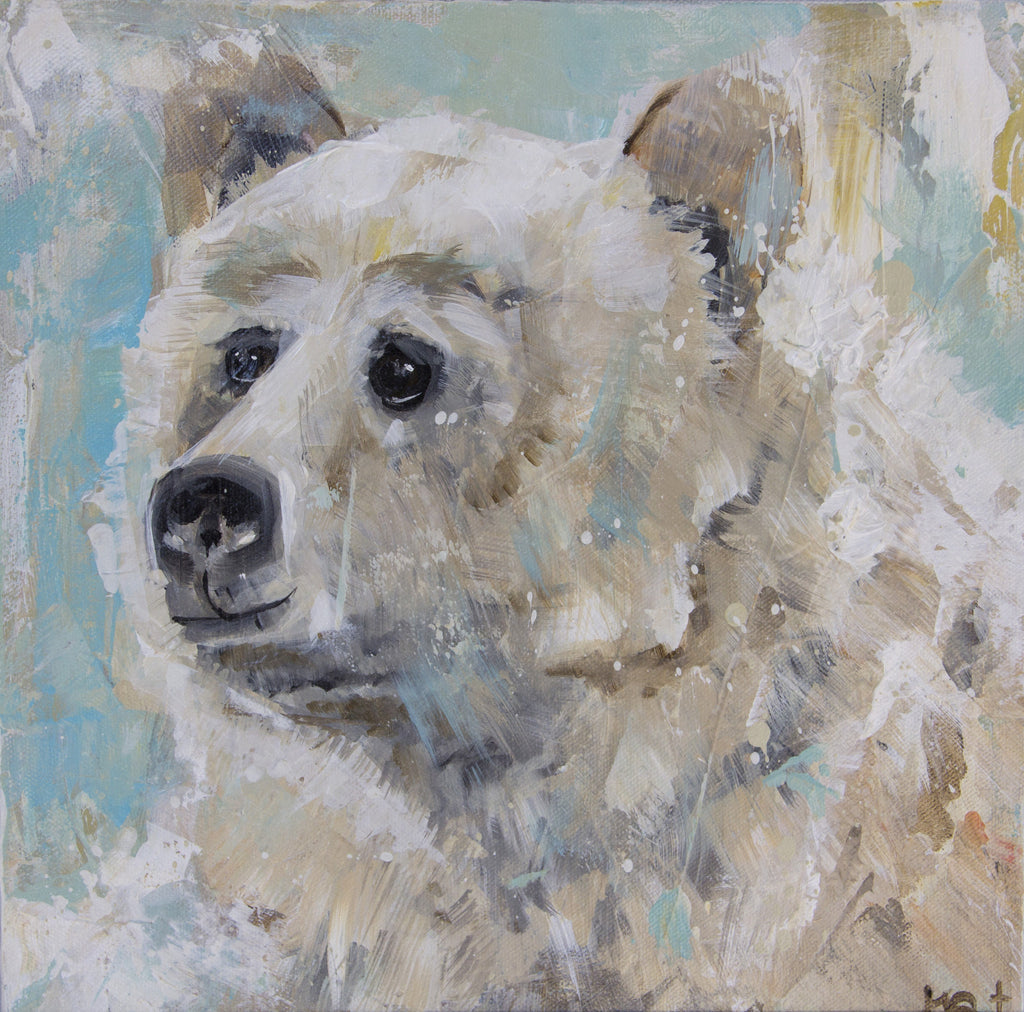 Snow Bear painting Kym De Los Reyes - Christenberry Collection