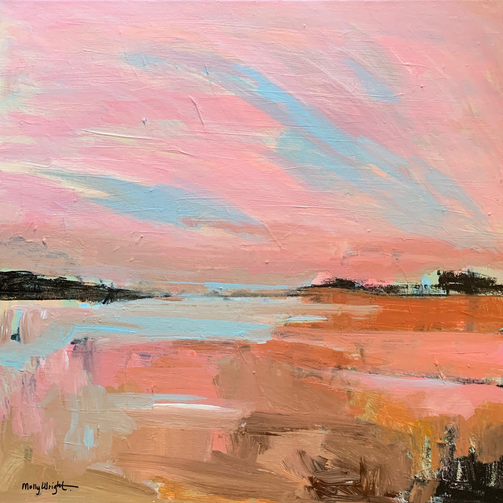Sunrise Sunset painting Molly Wright - Christenberry Collection