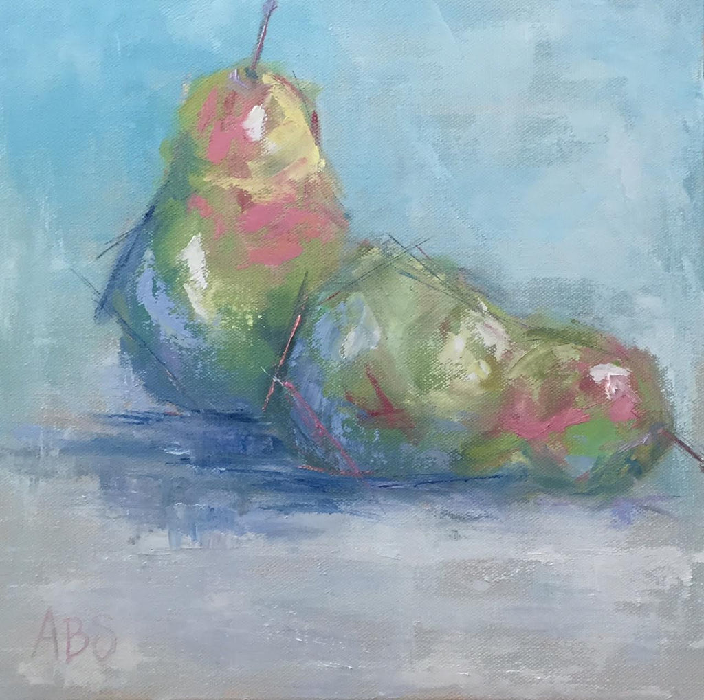 Sweet Pear painting Ann Schwartz - Christenberry Collection