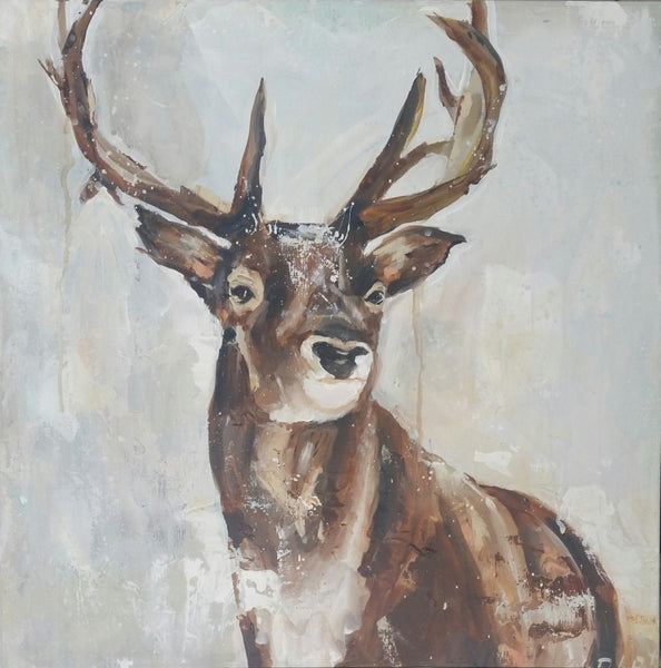 The Stag painting Kym De Los Reyes - Christenberry Collection